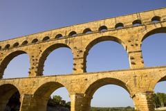 Pont du gard, roman aqueduct in southern france near nimes Stock Photos
