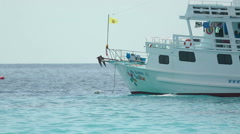 Dive boat Stock Footage