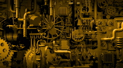 Stock Video Footage of Industry - cogs animation