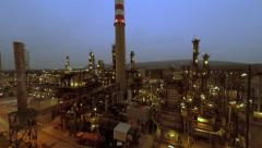 Industrial background. gas and oil production. chemical industry Stock Footage