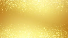 Gold glitter dust two sides seamless loop background Stock Footage