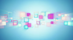 colorful squares loopable techno background - stock footage