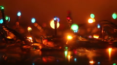 colorful luminous garland and reflection seamless loop - stock footage