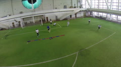American football indoor training drills Stock Footage