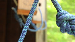 Climbing Ropes In Knots Rack Focus Stock Footage
