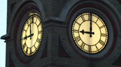 Clock at the station in Eastbourne Stock Footage