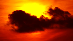 Sunset Sun And Clouds (Bloody) - stock footage