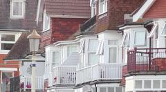 Houses in Eastbourne Stock Footage