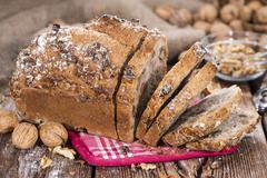 Fresh made walnut bread Stock Photos
