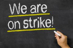 We are on strike Stock Photos
