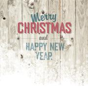 merry christmas design template with isolated side - stock illustration