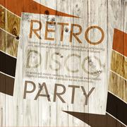 retro disco party - stock illustration
