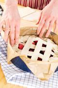 homemade dessert - fruit pie - stock photo