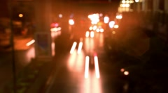 Speed up Timelapse. Night traffic on the road. City lights. Background with Stock Footage