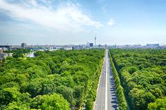 Berlin and the under den linden boulevard Stock Photos