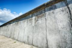 the berlin wall at bernauer strasse - stock photo
