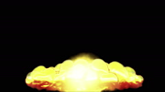 Huge Nuclear Explosion 3D Animation 3 Stock Footage