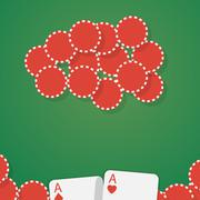 Aces and gambling chips Stock Illustration