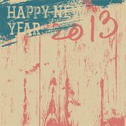 2013 new year background retro styled. vector, eps8. Stock Illustration