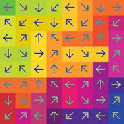 Stock Illustration of abstract arrows on colorful rectangles background, vector