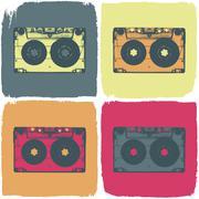 Audio cassette pop-art concept. vector, eps8 Stock Illustration