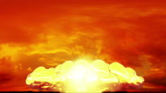 Huge Nuclear Explosion 3D Animation 11 - stock footage