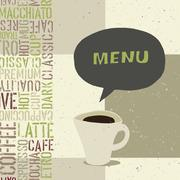 Stock Illustration of coffeehouse menu template, vector, eps8