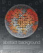 Global business concept poster design, vector illustration, eps10 Stock Illustration