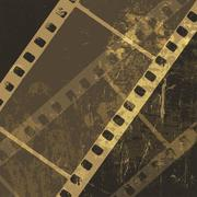 Grunge film strip background. vector Stock Illustration