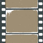 empty grunge film strip design, may use as a background or overlays. - stock illustration