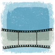 Grunge film strip poster. vector, eps10 Stock Illustration