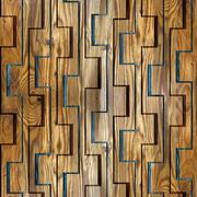decorative wooden pattern for seamless background - stock illustration