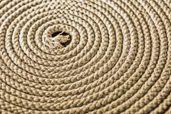 Nautical rope in spiral - stock photo