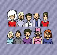 Cartoon people Stock Illustration