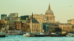London St Paul's, late afternoon, before sunset Arkistovideo