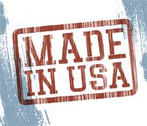 Made in usa stamp. vector, eps10 Stock Illustration
