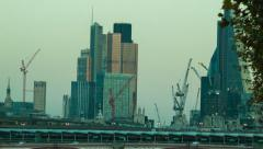 Late Afternoon in the City of London, Cityscape Stock Footage