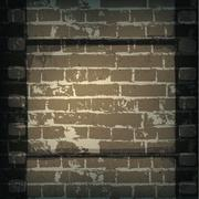 Old cinema abstract background. film strip on brick wall. Stock Illustration