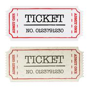 Vintage paper ticket, two versions. vector illustration, eps10. Stock Illustration