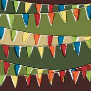 Party pennant bunting. happy holiday background, vector, eps10 Stock Illustration