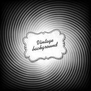 Retro background in black and white gamut. vector, eps10 Stock Illustration