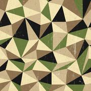 retro triangles background, vector - stock illustration