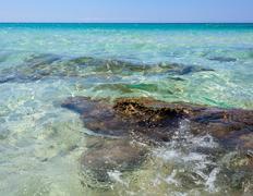 baia verde beach near gallipoli - stock photo