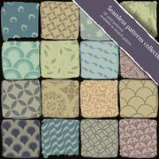Seamless patterns collection. all used patterns available in swatch palette.  Stock Illustration