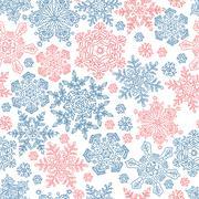 Seamless snowflakes pattern for winter themed designs. vector illustration, e Stock Illustration