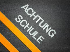 Achtung schule - attention school german Stock Illustration