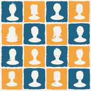 portraits of many people. social network concept illustration. vector, eps10 - stock illustration