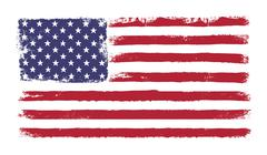 "Stars and stripes. grunge version of american flag with 50 stars and ""old glo Stock Illustration"
