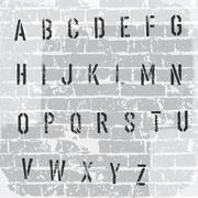 Stencil grunge alphabet. vector, eps10 Stock Illustration