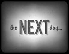 Old cinema phrase (the next day...), vector, eps10 Piirros